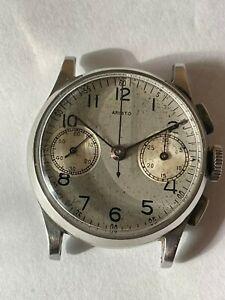 Aristo Chronograph Vintage Valjoux 23 Serviced 1940's Military? Watch
