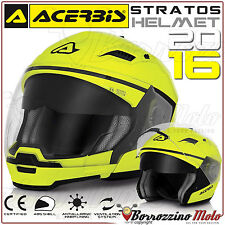 CASCO MOTO SCOOTER ACERBIS STRATOS CROSSOVER JET/INTEGRALE GIALLO FLUO TG. L