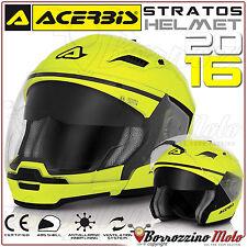 CASCO MOTO SCOOTER ACERBIS STRATOS CROSSOVER JET/INTEGRALE GIALLO FLUO TG. XXL