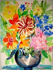FLOWERS 2 Original Watercolor Painting