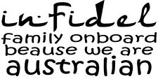 FUNNY STICK FIGURE FAMILY INFIDEL STICKER FAMILY WE ARE AUSTRALIAN STICKER
