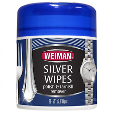 Weiman Silver Wipes for Cleaning and Polishing Silver Jewelry, Sterling Silver,
