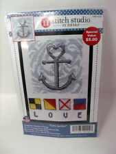 """Design Works Nautical LOVE ANCHOR Counted Cross Stitch Kit 5"""" x 7"""""""