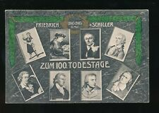 Germany Literature Friedrich Schiller M/view vintage PPC