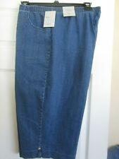 Croft & Barrow The Classic Pull On Women's Stretch Blue Capri Pants Size 3X