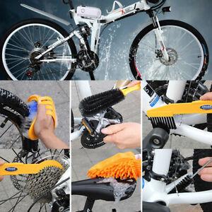 BIKIGHT 6 Bicycle / Cycle Bike Cleaning Tool Kit Chain Wheel Brushes Set UK