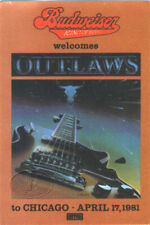Outlaws 1981 Ghost Riders Tour Promo Backstage Pass