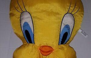 "Vtg Tweety Bird Plush 20"" Face Pillow Stuffed Looney Tunes Jumbo Play by Play"