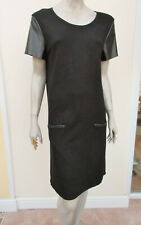 M&S Collection - Womens Black Fine Knit Short Sleeved Dress - size 14/16
