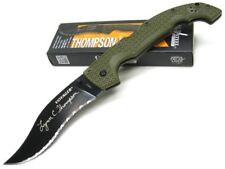 Cold Steel OD Green Thompson Voyager Straight CTS-XHP Folding Pocket Knife 29UXV