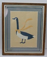 Vintage Country Goose Cast Art Checkered K. Eisley Signed Numbered 977/2500