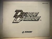 DOUBLE DRIBBLE Basketball - NES Nintendo Instruction Manual Only