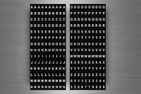 Set 280 x sticker adesivo adesivi alfabeto numero scrapbooking lettere r7