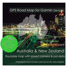 2020 Australia & Nz City Road Maps - microSd-Sd Card for Garmin Gps Navigator