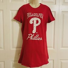 🎄 PHILADELPHIA  PHILLIES ... Pull-On Baseball Sleep Shirt ... Red ... Size L 🎄