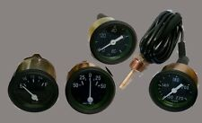 Willys MB Jeep GPW Ford CJ2A CJ3A Gauges Kit Temperature Oil Fuel Ampere BLACK