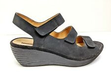 Clarks Collection Soft Cushion Reedly Juno Wedge Heel Comfort Sandals Women's 9