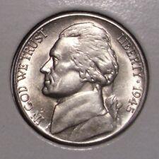 1945 S Jefferson Silver Nickel , Choice BU