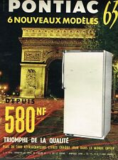 L- Publicité Advertising 1962 Le refrigerateur Pontiac .. Paris Arc de Triomphe
