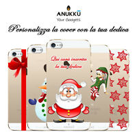 Custodia Cover Trasparente Natale Per Apple iPhone 4 4s 5 5s 5c 6 6s 7 Plus SE