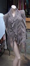 Wonderful TU Fabulous Long Fine Knitted Scarf Shawl Knit Mocha / Soft Brown