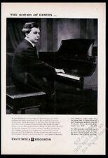 1956 Josef Hofmann photo at piano Columbia Records vintage print ad