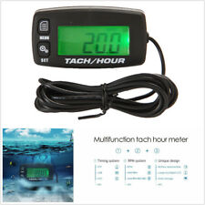 Motorcycle  LCD Display Backlight Digital Inductive Hour Meter Tachometer Gauge