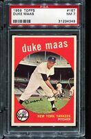 1959 Topps Baseball #167 DUKE MASS New York Yankees PSA 7 NM