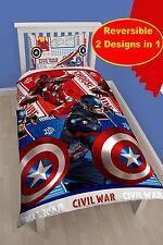 Captain America Vs Iron Man Guerra Civil individual duvet cover quilt Set Niños Dormitorio