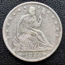 1855 O Seated Liberty Half Dollar 50c High Grade XF + #18255