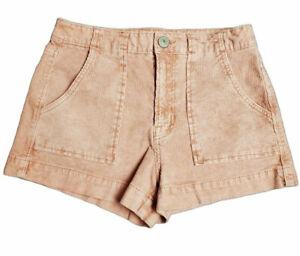"American Eagle Women's Hi-Rise Pink Corduroy Super Stretch Shorts Size 00~26""x2"""