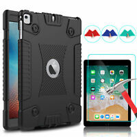 For iPad 6th Generation 9.7 2018 Shockproof Slim ArmorSoft Case Screen Protector