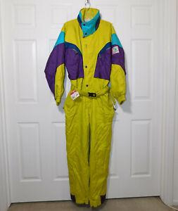 Vintage 1991 COLMAR SPORTSWEAR ENTRANT Ski Snow Suit Multi Color Insulated 52 L