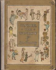 RARE VG Hardcover early 1920s Edition Under the Window Kate Greenaway Nice con
