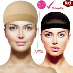 Wig Cap Nude Breathable Unisex Stocking Stretch Hair Net Liner Medical Grade UK