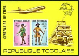 Togo 873-C223,C223a,imperf,MNH.Mi 1035A-1038,Bl.84 B,C.UPU-100:Mailman,Uniforms