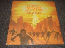 Nuclear Assault Game Over signed LP cover vintage band autograph 1986, no vinyl