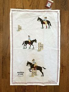 Chandler 4 Corners Equestrian By Laura Megroz Kitchen Bar Towel Cotton  NWT