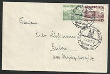 Poland 1937 cover spec cancel GNIEZNO