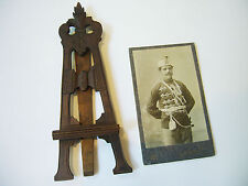 Antique Wood Frame Easel Photo Volunteer Picture 1900's Art Secession Hand Made