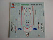 F1 DECALS KIT 1/43 LIGIER JS 11 F1 1979 DEPAILLER-LAFITTE 1/43 DECALS FDS AUTOMO