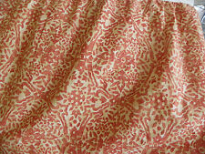 "RALPH LAUREN-""SAN LUCA SCROLL"" CAL KING BEDSKIRT-SPLIT CORNERS-14.5"" DROP RED"