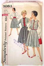 1950s Simplicity #3081 Sewing Pattern Junior & Misses' Jacket Skirt Blouse Sz 11