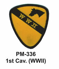 """3"""" 1ST CAV. (WWII) Embroidered Military Patch"""