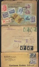 POLAND 1940-50's SIX COMMERCIAL COVERS ALL TO U.S.
