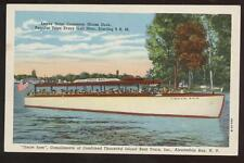Postcard Alexandria Bay Ny Tour Boat Uncle Sam 1930's?
