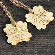 Personalized Favor tags,thank you wedding tags Rustic Wood tags Wedding Gift