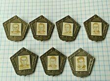 ☭ 7 х VTG Soviet Russian Space heroes Pins Badge rocket Gagarin USSR Nice SET