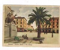 sassari  piazza italia  animata spedita 1947