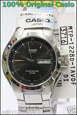 MTP-1228D-1A Black Water Resist Day Date Casio Men's Watch 10-Year Battery Quart